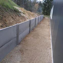 Aménagement clôture béton 1m hors sol